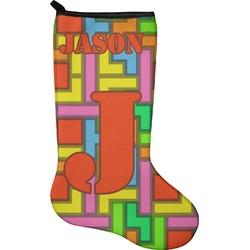 Tetris Print Christmas Stocking - Neoprene (Personalized)