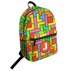 Tetris Print Student Backpack (Personalized)