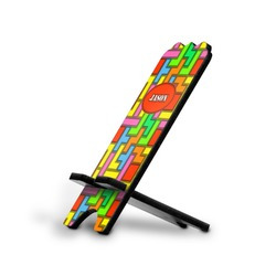 Tetris Print Stylized Phone Stand (Personalized)