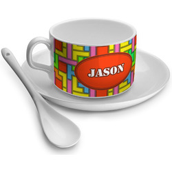 Tetris Print Tea Cups (Personalized)