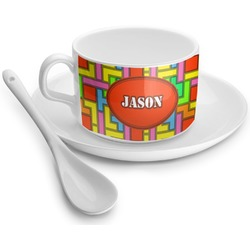 Tetris Print Tea Cup - Single (Personalized)