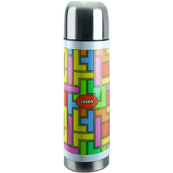 Tetris Print Stainless Steel Thermos (Personalized)