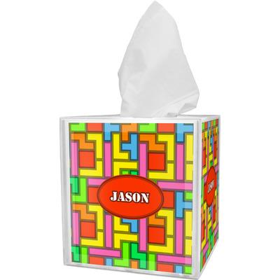 Tetromino Tissue Box Cover (Personalized)
