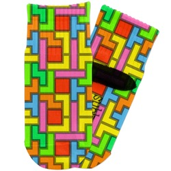 Tetris Print Toddler Ankle Socks (Personalized)