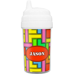 Tetris Print Toddler Sippy Cup (Personalized)