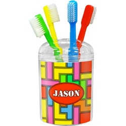 Tetris Print Toothbrush Holder (Personalized)