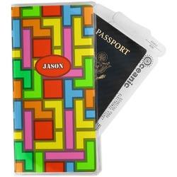 Tetris Print Travel Document Holder