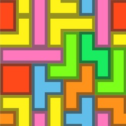 Tetris Print Wallpaper & Surface Covering