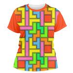 Tetromino Women's Crew T-Shirt (Personalized)