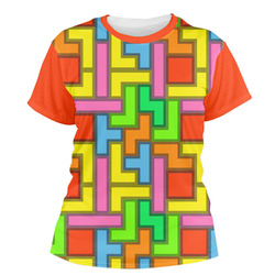 Tetris Print Women's Crew T-Shirt (Personalized)