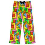 Tetromino Womens Pajama Pants (Personalized)