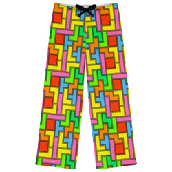 Tetris Print Womens Pajama Pants (Personalized)