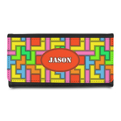 Tetris Print Leatherette Ladies Wallet (Personalized)