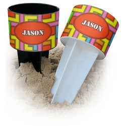Tetris Print Beach Spiker Drink Holder (Personalized)