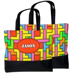 Tetromino Beach Tote Bag (Personalized)