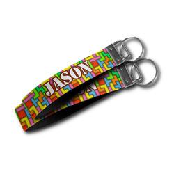 Tetromino Wristlet Webbing Keychain Fob (Personalized)