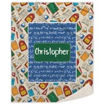 Math Lesson Sherpa Throw Blanket (Personalized)