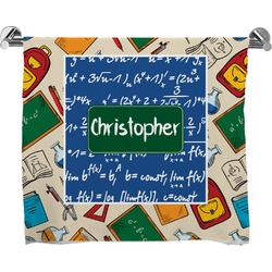 Math Lesson Full Print Bath Towel (Personalized)