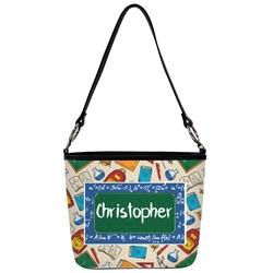 Math Lesson Bucket Bag w/ Genuine Leather Trim (Personalized)