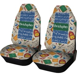 Math Lesson Car Seat Covers (Set of Two) (Personalized)