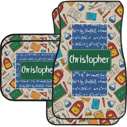 Math Lesson Car Floor Mats Set - 2 Front & 2 Back (Personalized)