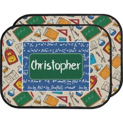 Math Lesson Car Floor Mats (Back Seat) (Personalized)