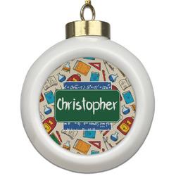 Math Lesson Ceramic Ball Ornament (Personalized)