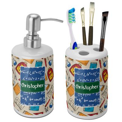 Math Lesson Ceramic Bathroom Accessories Set (Personalized)