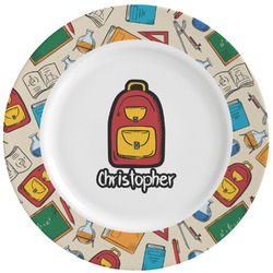 Math Lesson Ceramic Dinner Plates (Set of 4) (Personalized)