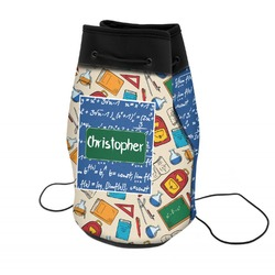 Math Lesson Neoprene Drawstring Backpack (Personalized)