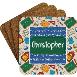 Math Lesson Coaster Set w/ Stand (Personalized)