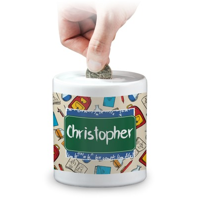 Math Lesson Coin Bank (Personalized)