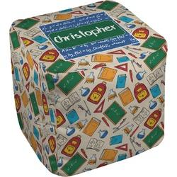 Math Lesson Cube Pouf Ottoman (Personalized)