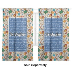 Math Lesson Custom Sized Curtain Panel (Personalized)