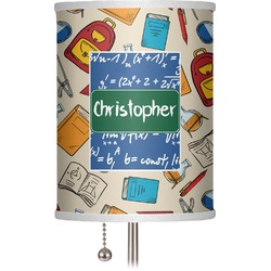 """Math Lesson 7"""" Drum Lamp Shade (Personalized)"""