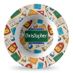 Math Lesson Plastic Bowl - Microwave Safe - Composite Polymer (Personalized)