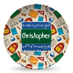Math Lesson Microwave Safe Plastic Plate - Composite Polymer (Personalized)