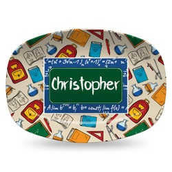 Math Lesson Plastic Platter - Microwave & Oven Safe Composite Polymer (Personalized)