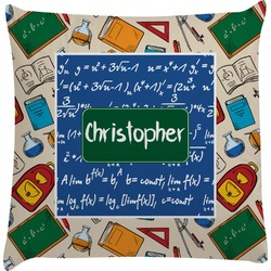 Math Lesson Decorative Pillow Case (Personalized)