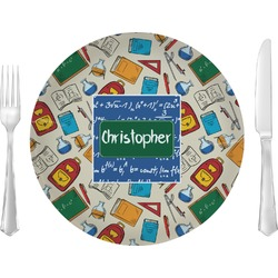 "Math Lesson 10"" Glass Lunch / Dinner Plates - Single or Set (Personalized)"