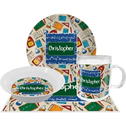 Math Lesson Dinner Set - 4 Pc (Personalized)