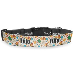 Math Lesson Deluxe Dog Collar (Personalized)