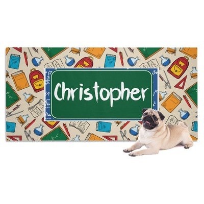 Math Lesson Dog Towel (Personalized)