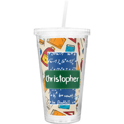 Math Lesson Double Wall Tumbler with Straw (Personalized)