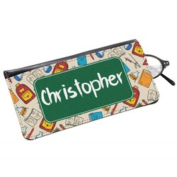 Math Lesson Genuine Leather Eyeglass Case (Personalized)