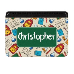 Math Lesson Genuine Leather Front Pocket Wallet (Personalized)