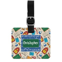 Math Lesson Genuine Leather Rectangular  Luggage Tag (Personalized)