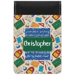 Math Lesson Genuine Leather Small Memo Pad (Personalized)