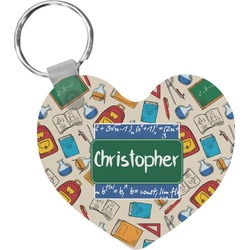 Math Lesson Heart Keychain (Personalized)