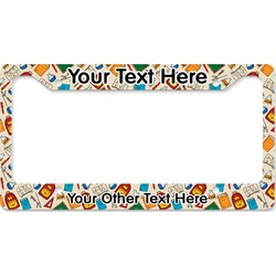 Math Lesson License Plate Frame (Personalized)